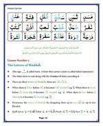 read Noorani Qaida Madni English page 12
