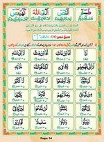read Noorani Qaida Madni Urdu page 33